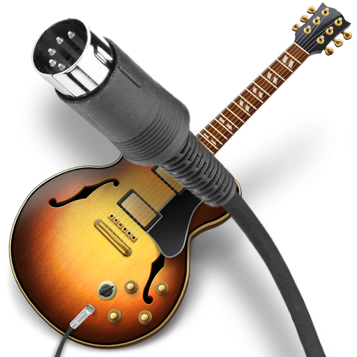 GarageBand icon with MIDI cable superimposed