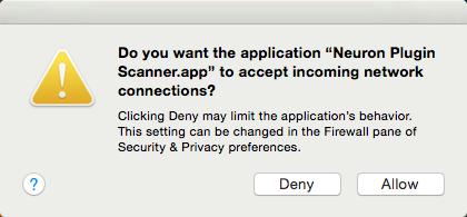 screen capture of the alert dialog box