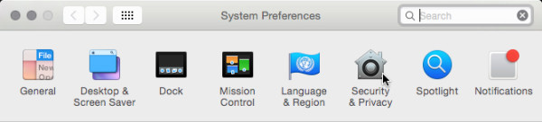 screenshot of System Preferences