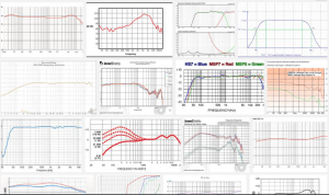 screenshot of many frequency response graphs