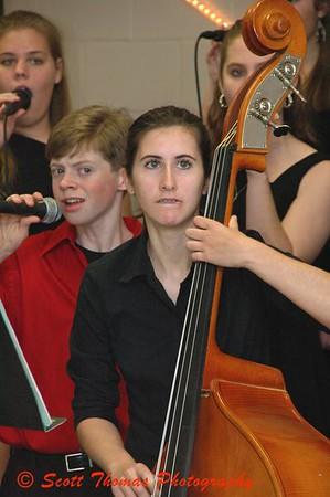 Silk & Satin Jazz group performing at C. W. Baker High School, Baldwinsville, New York.