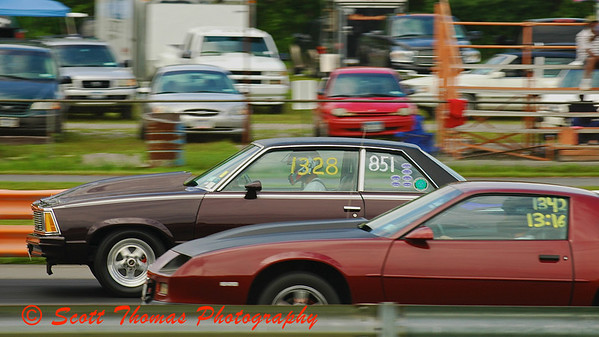 Street Class cars in a close race at ESTA Safety Park Dragstrip.