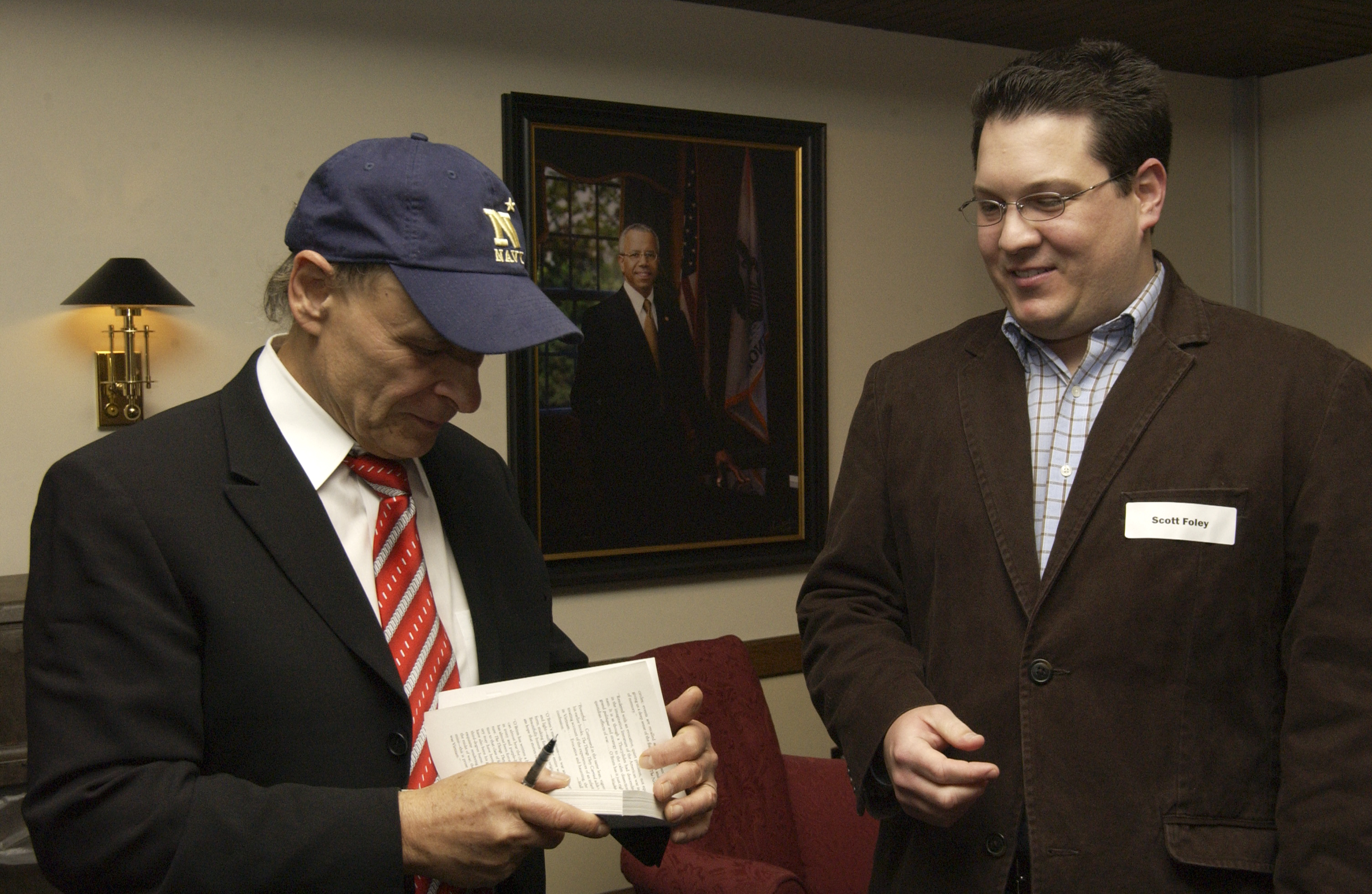 Tim O'Brien Signs ScottWilliam Foley's Book