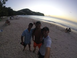 Don Nguyen, Kevin Wang, and myself at BBC Beach while the sun begins to set