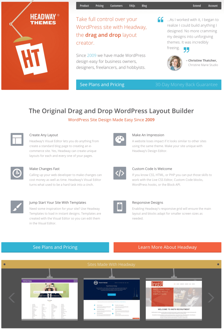 Headway Themes – Drag and Drop WordPress Theme Builder