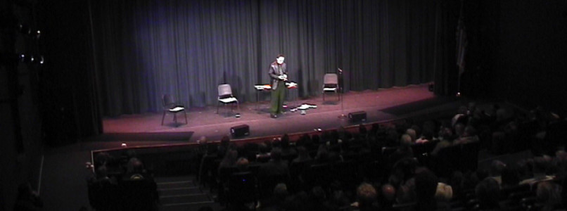 Mentalist on stage in New York City
