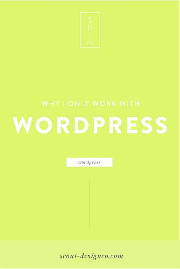 Don't know which platform is best for your new website? Read why I exclusively work with WordPress and why I love it.
