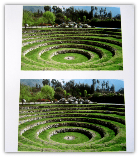 4-inch by 6-inch copies of travel photos printed on glossy paper