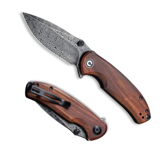 Civivi Pintail Cuibourtia Wood Damascus C2020DS2