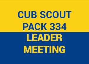 Cub Scout Leader Meeting @ TBD