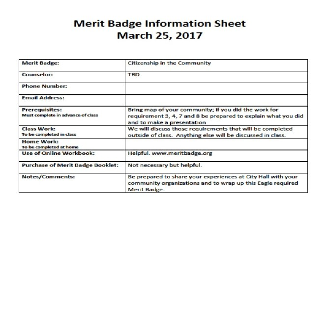 Family Life Merit Badge Requirements Best Life 2017 – Personal Management Merit Badge Worksheet