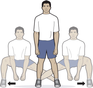 Health Knees Side-to-Side Lunge