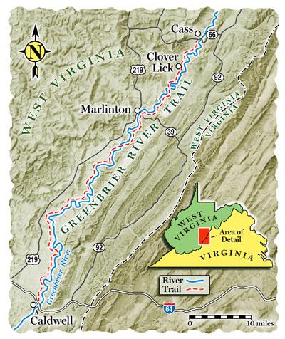 Trail Guide Map Greenbriar River Trail