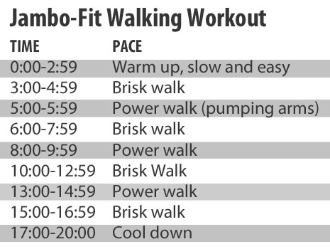 Jamboree Fitness Walking Workout