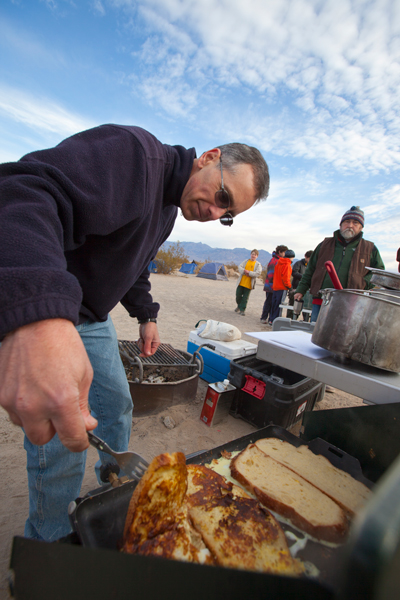 Death Valley Sandboarding Cooking