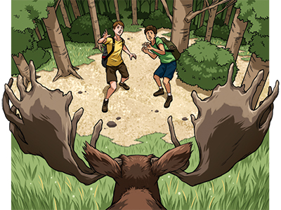 Survive This Moose Attack
