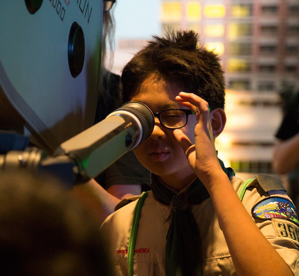 Scouts take over director's chair at Moviemaking Merit Badge Day
