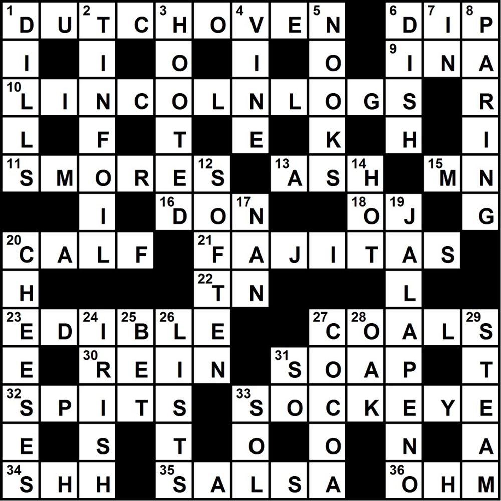 Challenge yourself with a camp cooking crossword puzzle campcrosswordsolution solutioingenieria Images