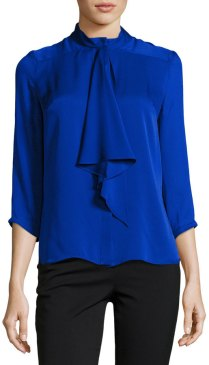 blue bow blouse