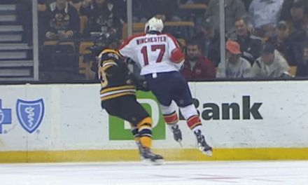 Panthers' Winchester Suspended Three Games for Elbow
