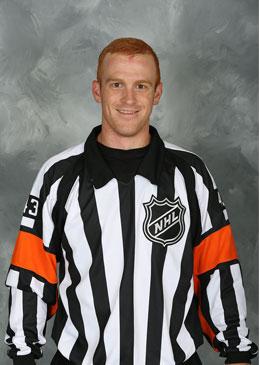 NHL Referee Tom Chmielewski (#43) (Courtesy NHLOA)