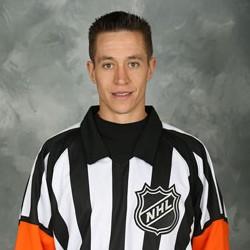 NHL Referee TJ Luxmore #49