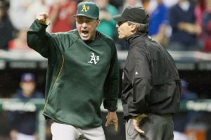 Oakland Athletics v Cleveland Indians Manager Bob Melvin