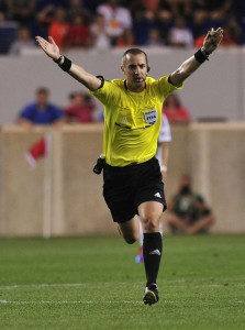 Referee Mark Geiger in 2012