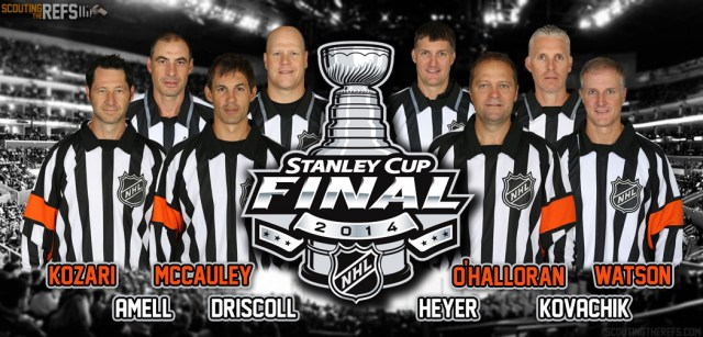 Scouting the Refs - 2014 Stanley Cup Final Referees and Linesmen