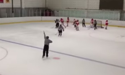 Russian Girl Breaks Hockey Stick Over Opponent's Head