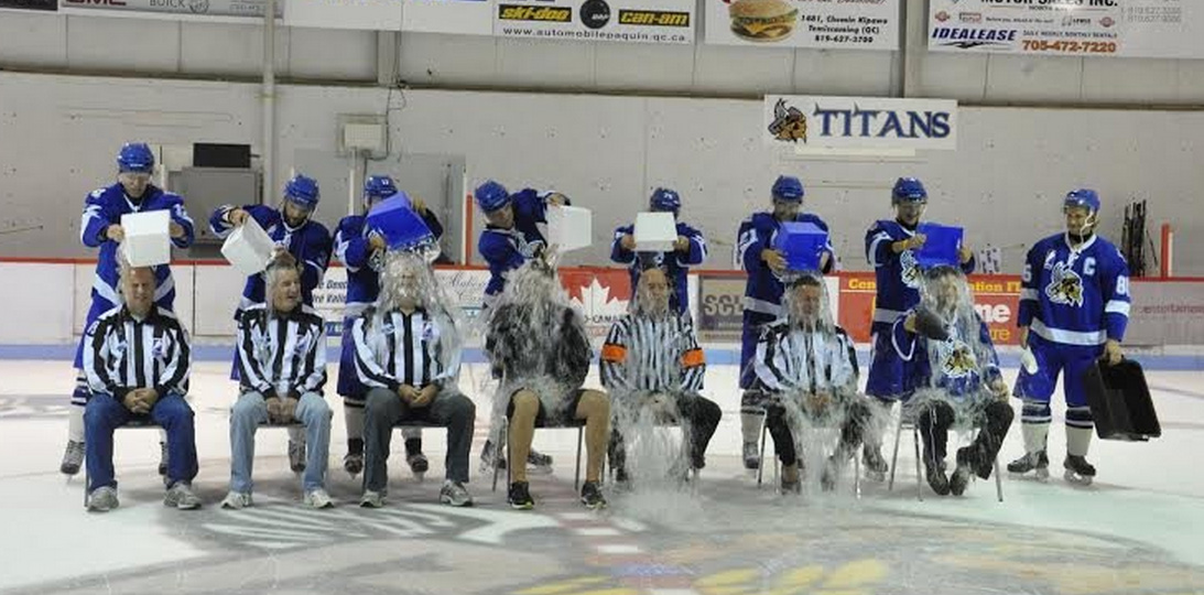 GMHL Supporting ALS Canada with Ice Buckets, Patch