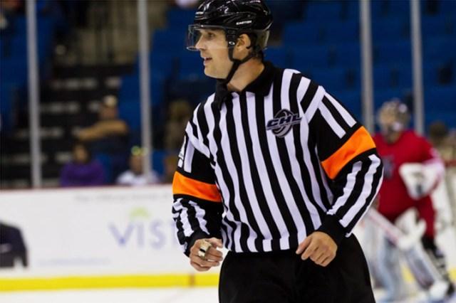 CHL Referee Jake Brenk