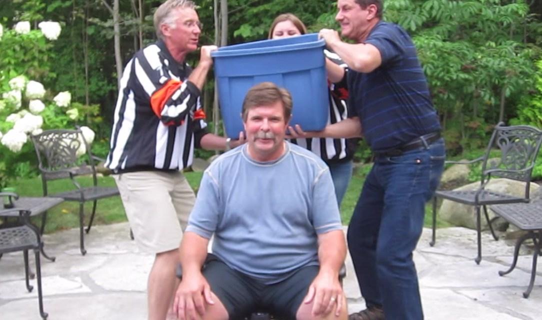 Refs Bill McCreary, Don Van Massenhoven Take Ice Bucket Challenge