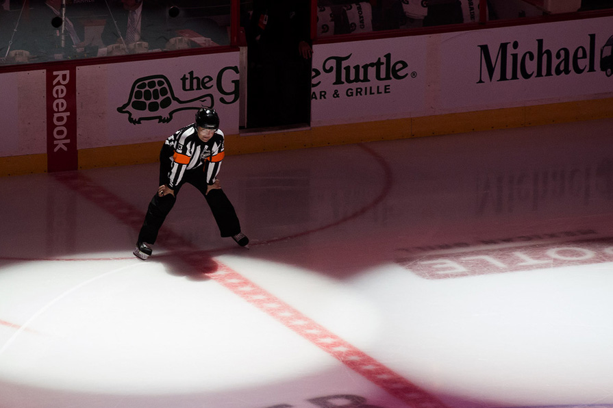 Tonight's NHL Officials – 12/8/14