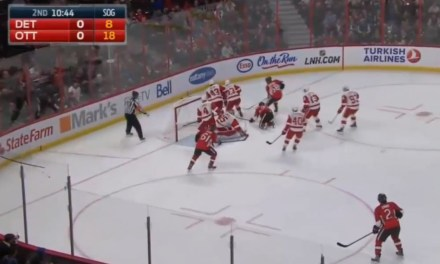 Red Wings Get Away With Too Many Men vs. Sens