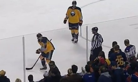 Sabres' Ennis Takes Out Frustrations on Linesman Derek Nansen