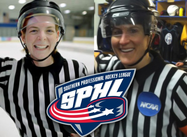 Referees Erin Blair and Katie Guay make their SPHL debuts