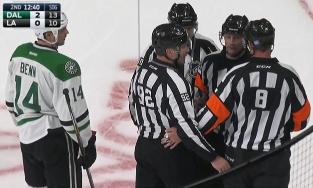 Stars Goal Disallowed After Puck In Netting