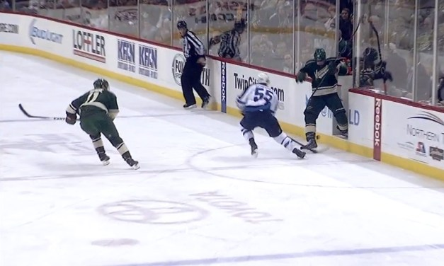 Wild's Carter Called For Playing Puck From Penalty Box