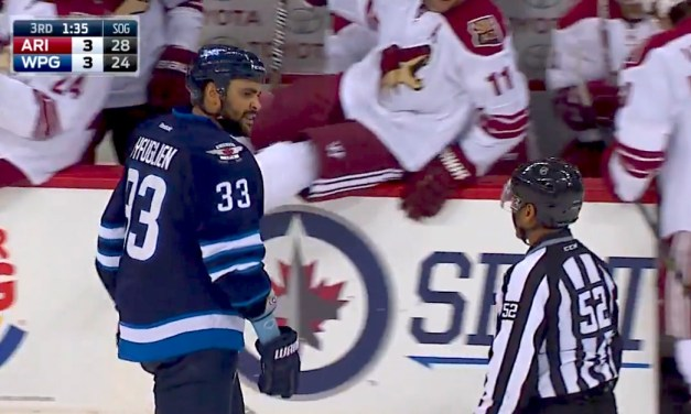 Jets' Byfuglien's Unsportsmanlike Against Refs