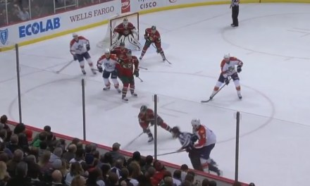 Panthers' Ekblad Runs Over Linesman Kiel Murchison