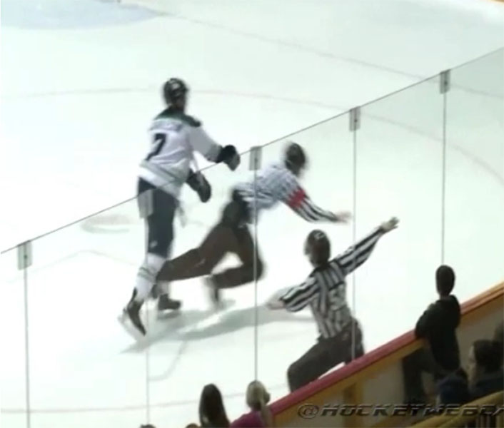 BCHL Player Hits Ref from Behind