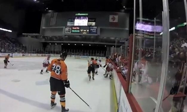 Linesman-Cam View of ECHL's Mallards vs. Americans