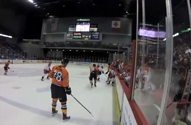 Linesman-Cam View of ECHL's Mallards vs. Americans