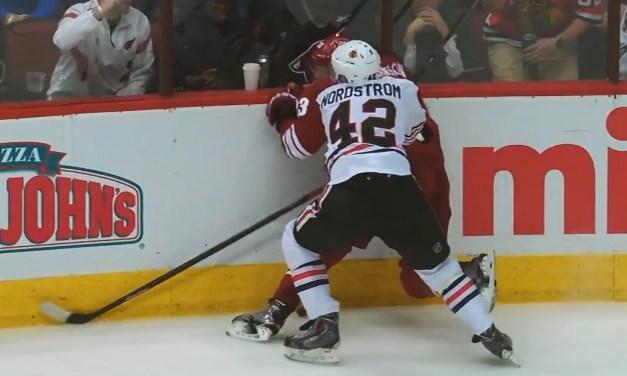 Blackhawks' Nordstrom Suspended 2 Games for Boarding