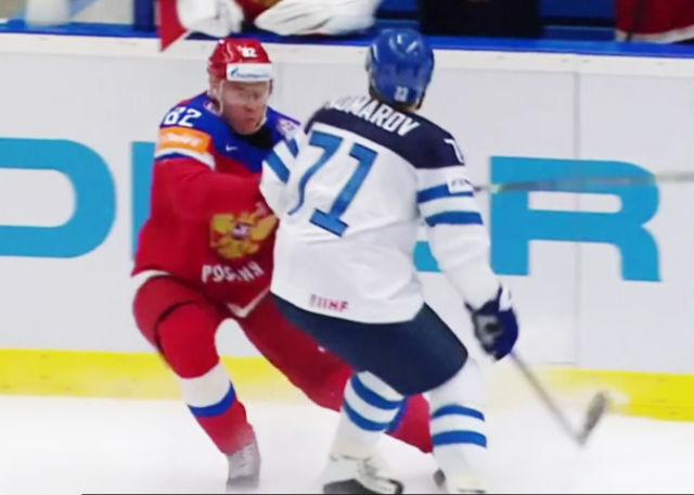 IIHF Worlds: Komarov Ejected on Phantom Kneeing Call