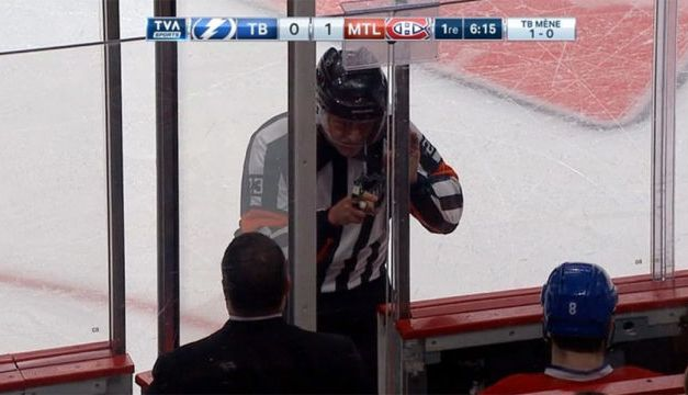 Referee Brad Watson, Montreal Canadiens Return To The Ice