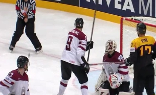 IIHF Referee Takes Shot Below The Belt