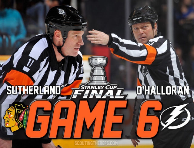 Tonight's Stanley Cup Playoff Referees & Linesmen – 6/15/15