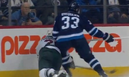Byfuglien Boards Pominville; Suspension Coming?
